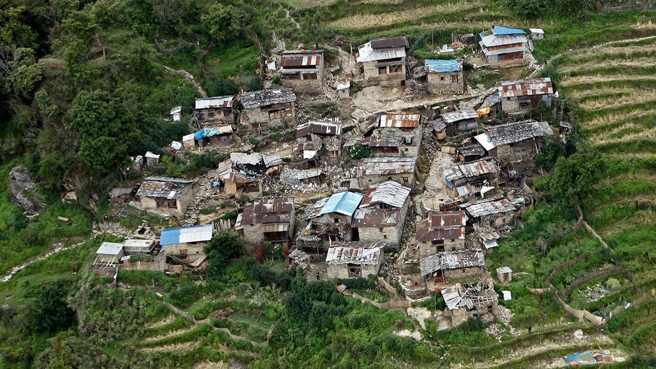Destroyed villages