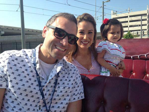 "<div class=""meta image-caption""><div class=""origin-logo origin-image none""><span>none</span></div><span class=""caption-text"">Foti Kallergis, Karla Barguiarena, and Karla's little girl at the Cinco de Mayo parade (KTRK Photo)</span></div>"