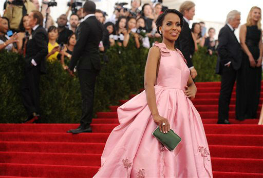 "<div class=""meta image-caption""><div class=""origin-logo origin-image none""><span>none</span></div><span class=""caption-text"">Kerry Washington arrives at The Metropolitan Museum of Art's Costume Institute benefit gala. (Photo by Evan Agostini/Invision/AP) (AP Photo)</span></div>"
