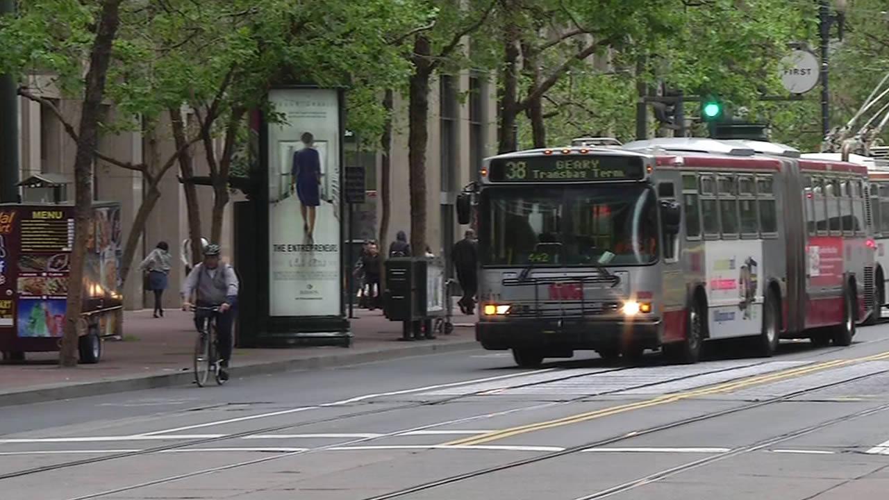 Muni bus in San Francisco