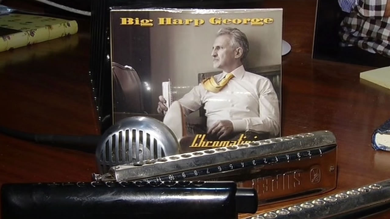 """UC Hastings professor George Bisharat, also known as """"Big Harp George,"""" is nominated for Best New Artist Album at the Blues Music Awards."""