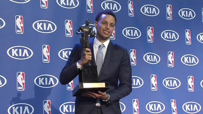 golden state warriors guard stephen curry officially named nba most