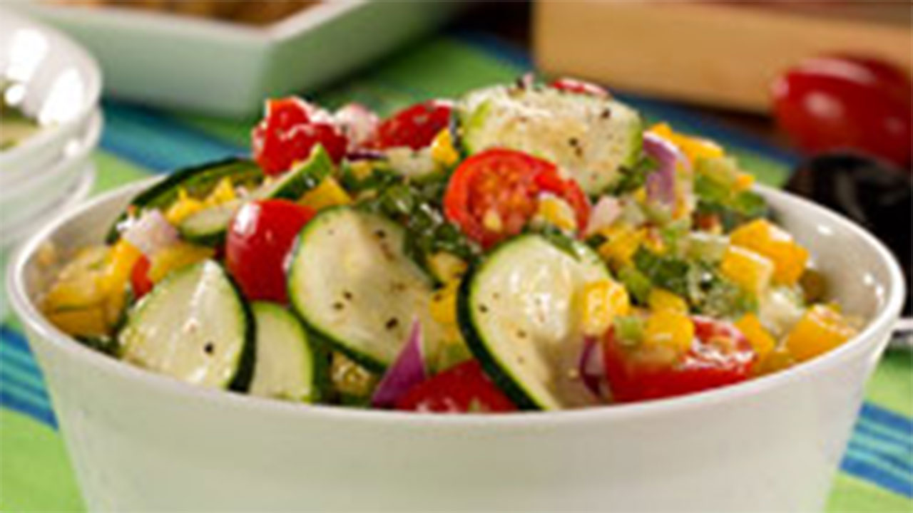 Fiesta Zucchini Salad recipe
