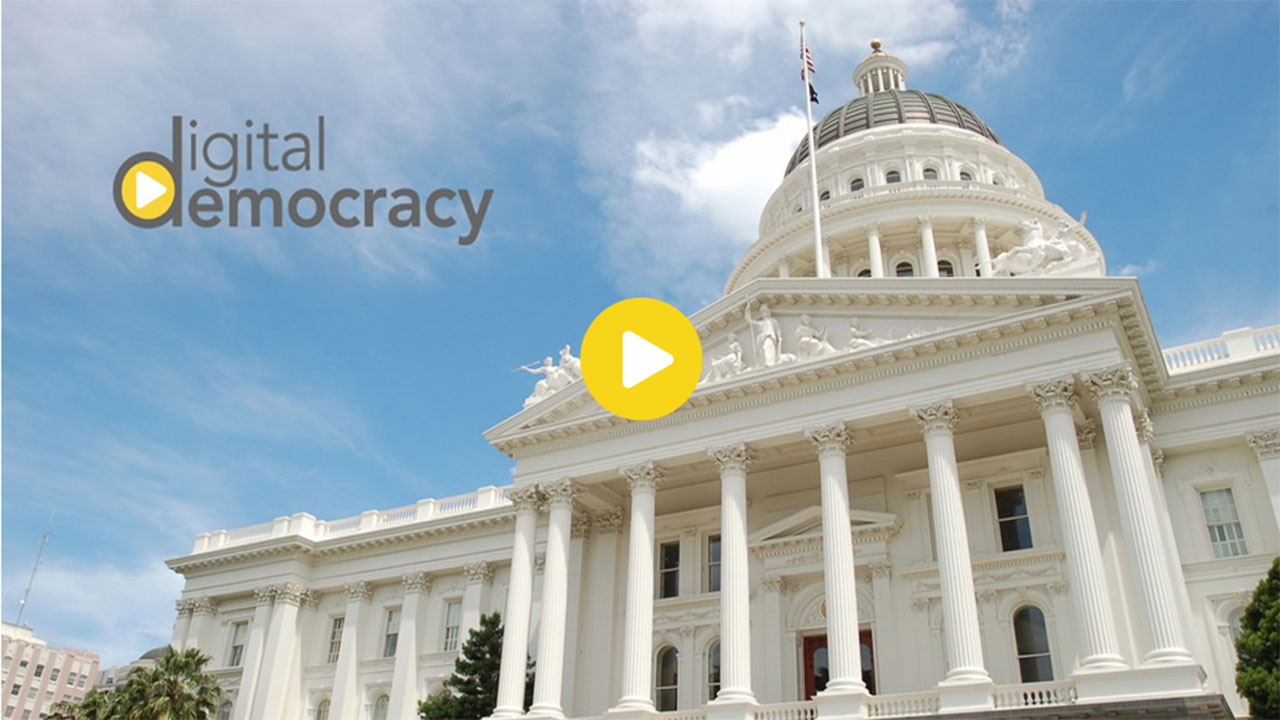 Screen grab of the digitaldemocracy.org website to by launched on Wednesday, May 6, 2015