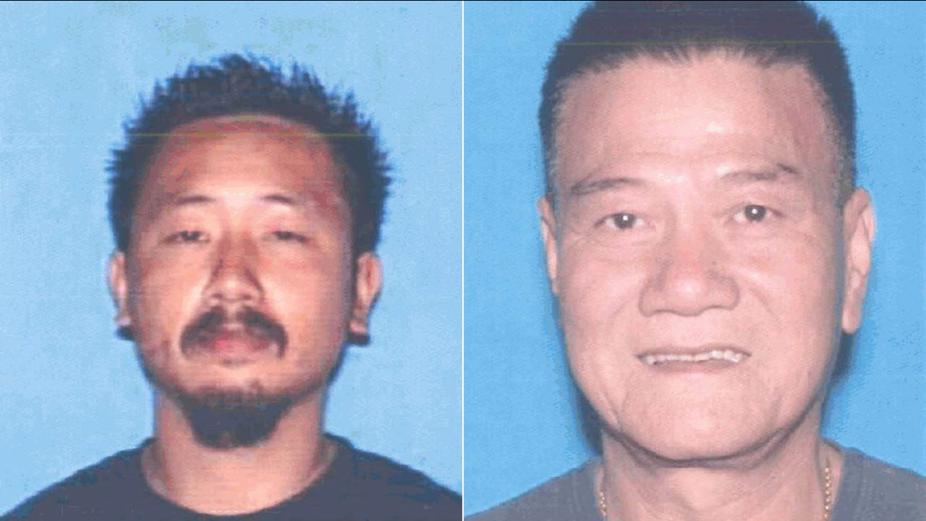 (L) Thong Kien Ma, a suspect killed by sheriff's deputies in South El Monte, is seen in this DMV photo. (R) Chau Da Ngo is seen in this DMV photo.