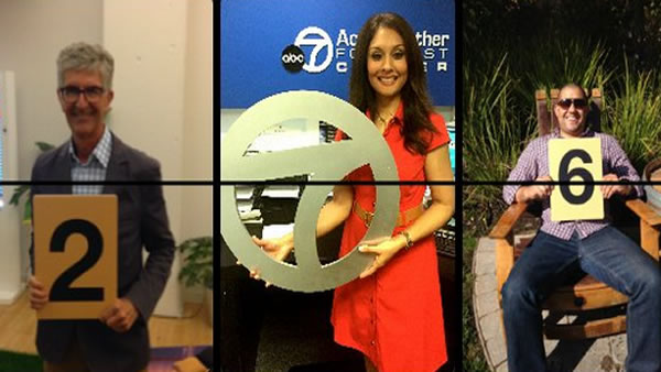 ABC7 News Meteorologist Sandhya Patel was featured on the official Super Bowl 50 Countdown Clock on Wednesday, May 6, 2015.