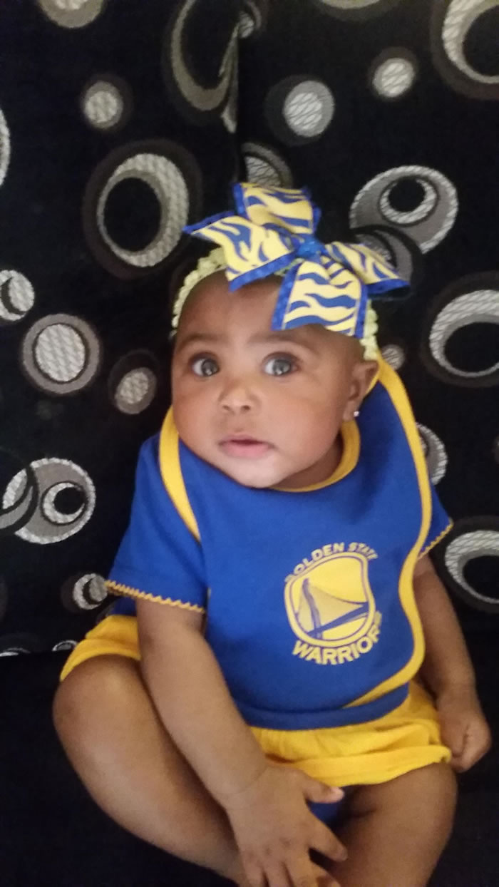 <div class='meta'><div class='origin-logo' data-origin='none'></div><span class='caption-text' data-credit='Photo submitted by Lakesha M. via uReport'>Baby Zaria is the littlest Warriors cheerleader! Tag your photos on Facebook, Twitter, Google Plus, or Instagram using #DubsOn7!</span></div>