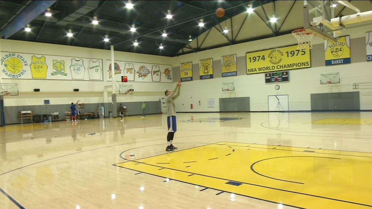 Golden State Warriors at practice