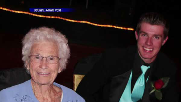 """<div class=""""meta image-caption""""><div class=""""origin-logo origin-image none""""><span>none</span></div><span class=""""caption-text"""">An Indiana teen took his great grandmother to prom – her second one, in fact. Her last prom was in 1940. (WLS Photo)</span></div>"""