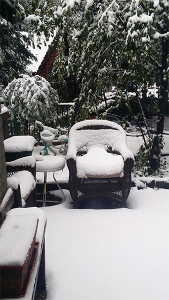 """<div class=""""meta image-caption""""><div class=""""origin-logo origin-image kabc""""><span>KABC</span></div><span class=""""caption-text"""">ABC7 viewer @ChefAshleys shared this photo on Twitter of snow in Crestline on Friday, May 8, 2015. (Twitter.com/ChefAshleys)</span></div>"""