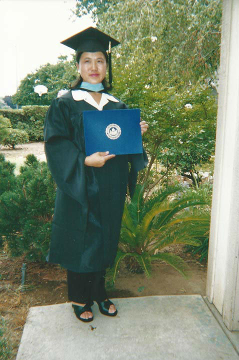 "<div class=""meta image-caption""><div class=""origin-logo origin-image none""><span>none</span></div><span class=""caption-text"">Vicky get's her Masters Degree in 2003 (KFSN Photo/ Vicky Xiong-Lor)</span></div>"
