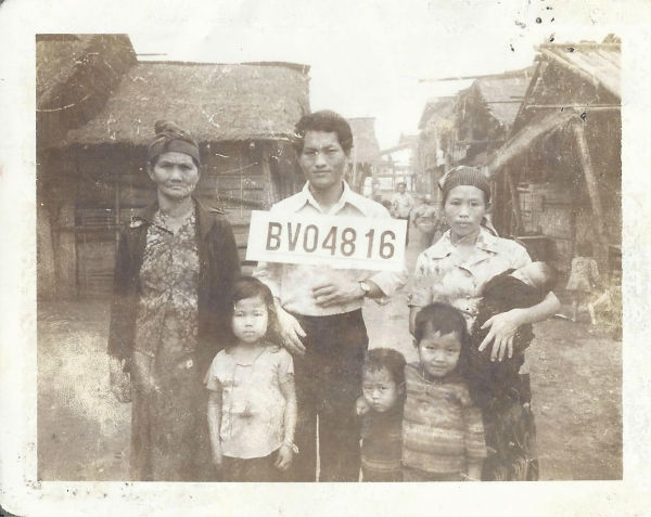 """<div class=""""meta image-caption""""><div class=""""origin-logo origin-image none""""><span>none</span></div><span class=""""caption-text"""">Vicky and her family before coming to America (KFSN Photo/ Vicky Xiong-Lor)</span></div>"""