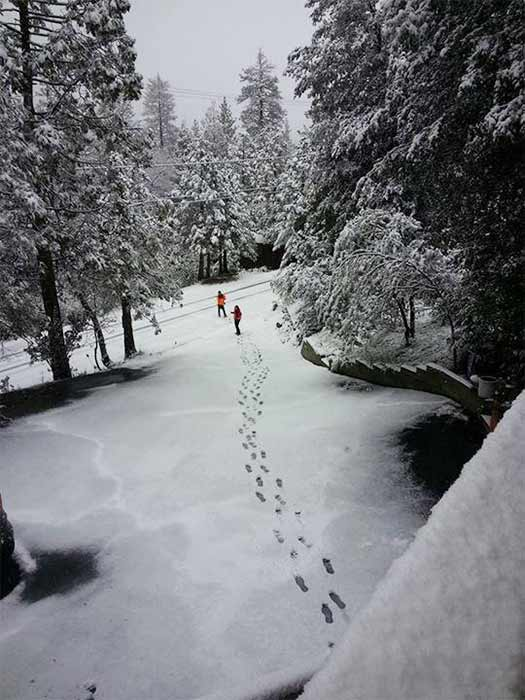 """<div class=""""meta image-caption""""><div class=""""origin-logo origin-image kabc""""><span>KABC</span></div><span class=""""caption-text"""">ABC7 viewer Richie Garcia shared this photo on Twitter of snow in Idyllwild on Friday, May 8, 2015. (ABC7 viewer Richie Garcia)</span></div>"""