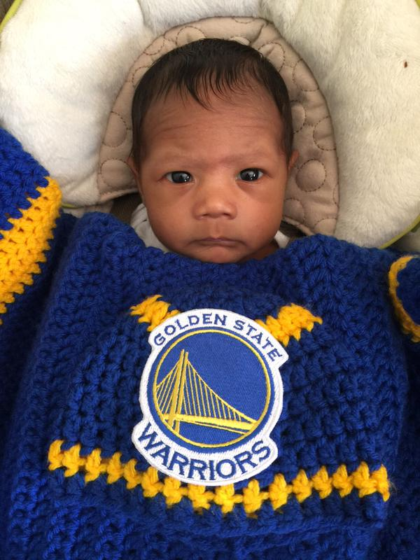 <div class='meta'><div class='origin-logo' data-origin='none'></div><span class='caption-text' data-credit='Photo submitted by jokerzwyyld via Twitter'>One of the Warriors' littlest fans! Tag your photos on Facebook, Twitter, Google Plus, or Instagram using #DubsOn7!</span></div>