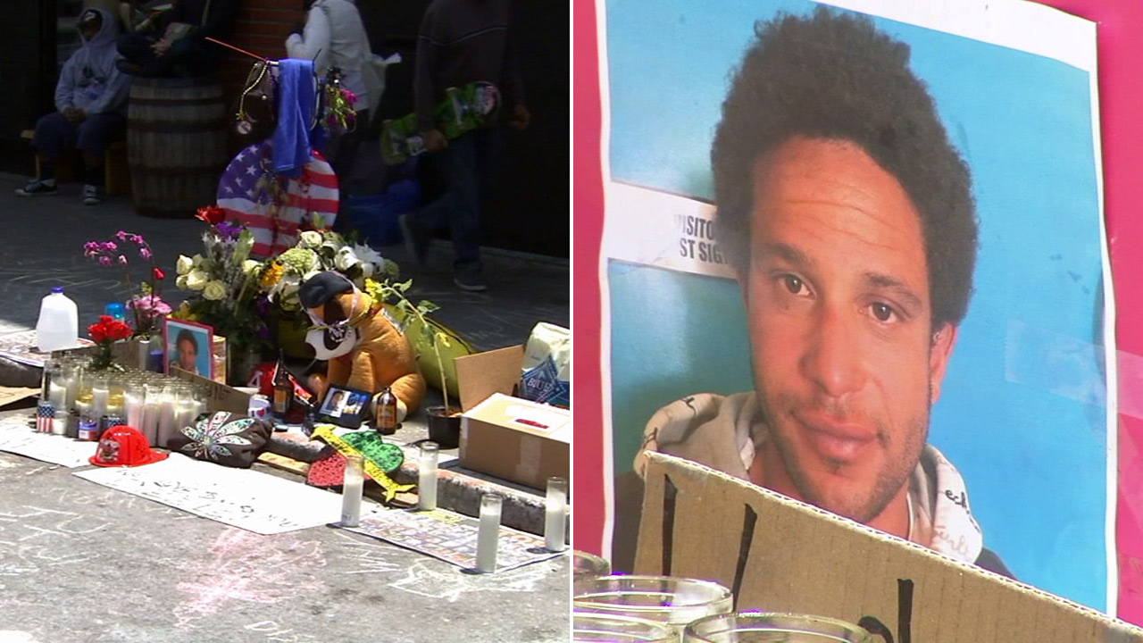 A vigil and rally was held in Venice for 29-year-old Brendon Glenn, the homeless man who was shot and killed by Los Angeles police, on Saturday, May 9, 2015.