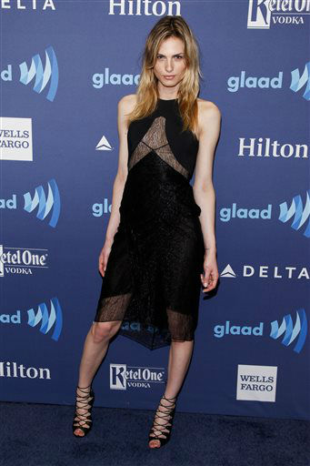 """<div class=""""meta image-caption""""><div class=""""origin-logo origin-image none""""><span>none</span></div><span class=""""caption-text"""">Andreja Pejic attends the 26th Annual GLAAD Media Awards at the Waldorf Astoria on Saturday, May 9, 2015, in New York. (Photo by Andy Kropa/Invision/AP) (Photo/Andy Kropa)</span></div>"""