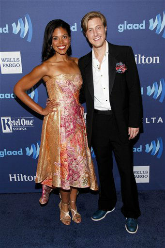 """<div class=""""meta image-caption""""><div class=""""origin-logo origin-image none""""><span>none</span></div><span class=""""caption-text"""">Karla Mosley, left, and Scott Turner Schofield, right, attend the 26th Annual GLAAD Media Awards. (Photo by Andy Kropa/Invision/AP) (Photo/Andy Kropa)</span></div>"""