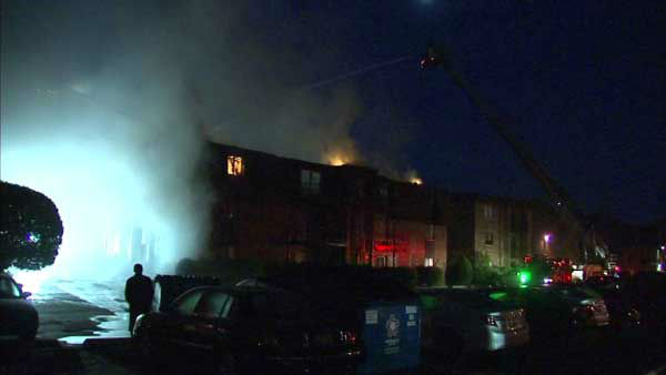 "<div class=""meta image-caption""><div class=""origin-logo origin-image none""><span>none</span></div><span class=""caption-text"">Crews from five south suburban fire departments worked to extinguish a raging fire at an apartment building in Burnham. (WLS Photo)</span></div>"