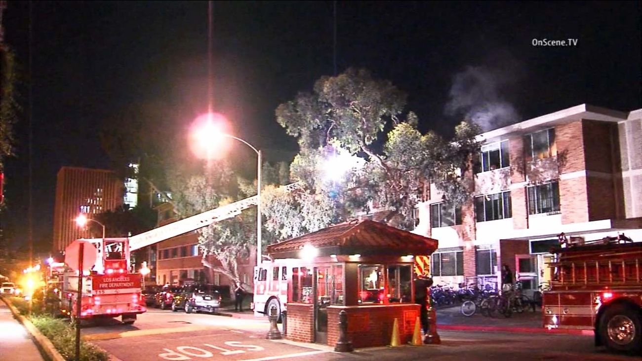 Dozens of University of Southern California students had to be evacuated after a fire broke out in a dorm on campus on Sunday, May 10, 2015.