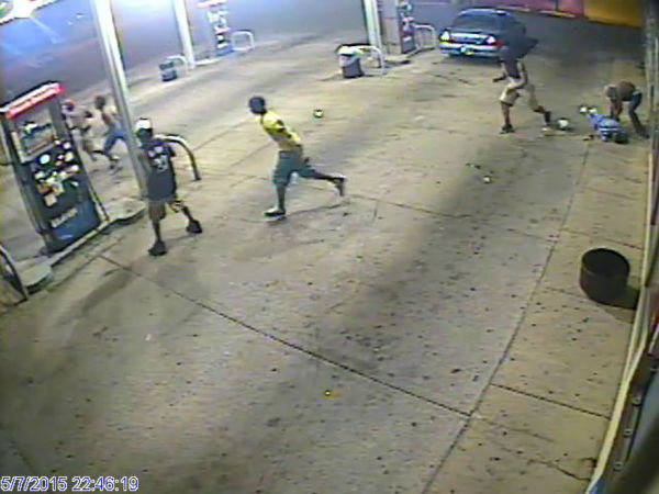 """<div class=""""meta image-caption""""><div class=""""origin-logo origin-image none""""><span>none</span></div><span class=""""caption-text"""">The man was surrounded by the group as he left work Thursday night.</span></div>"""