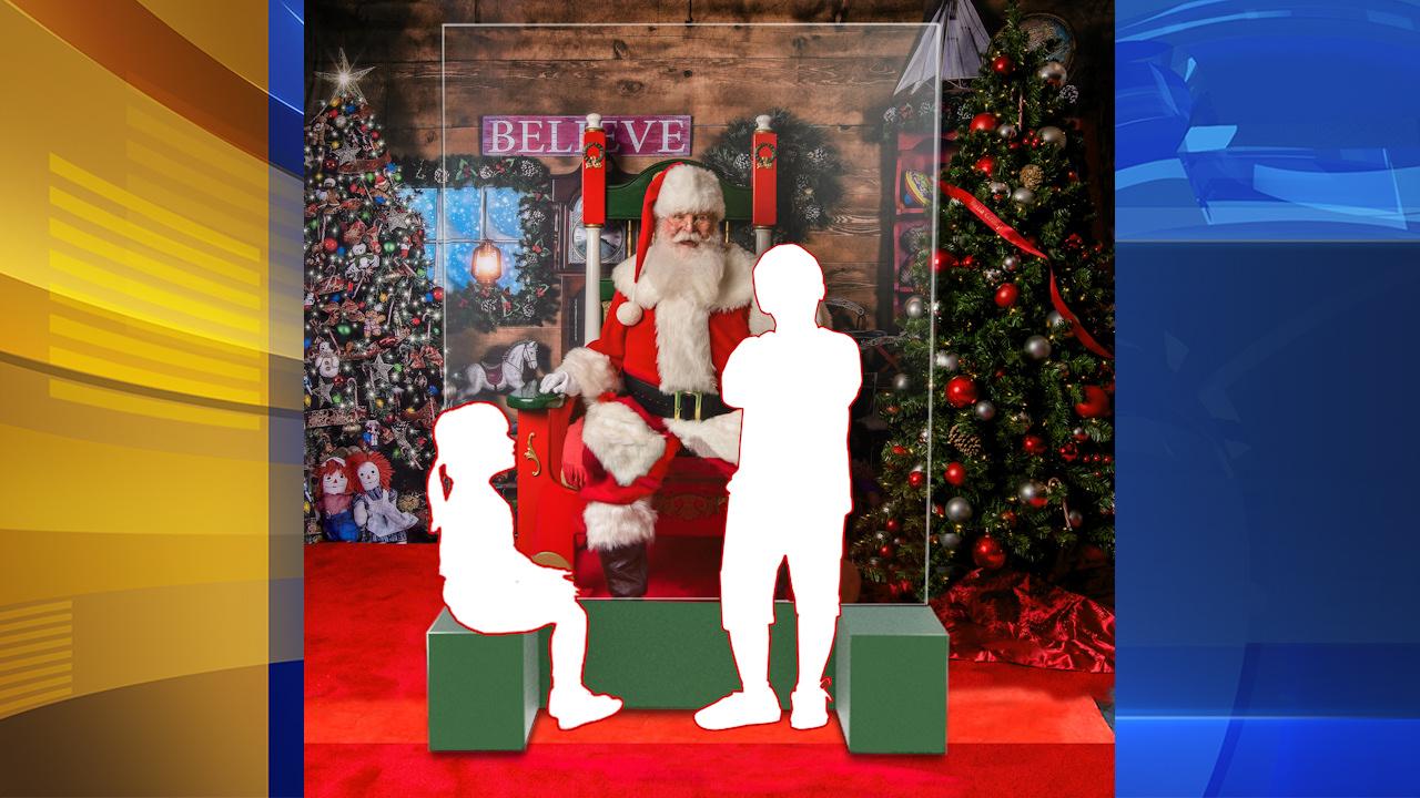 Santa To Sit Behind Plexiglass Protection Shield At Philadelphia Area Malls Due To Covid 19 Pandemic 6abc Philadelphia
