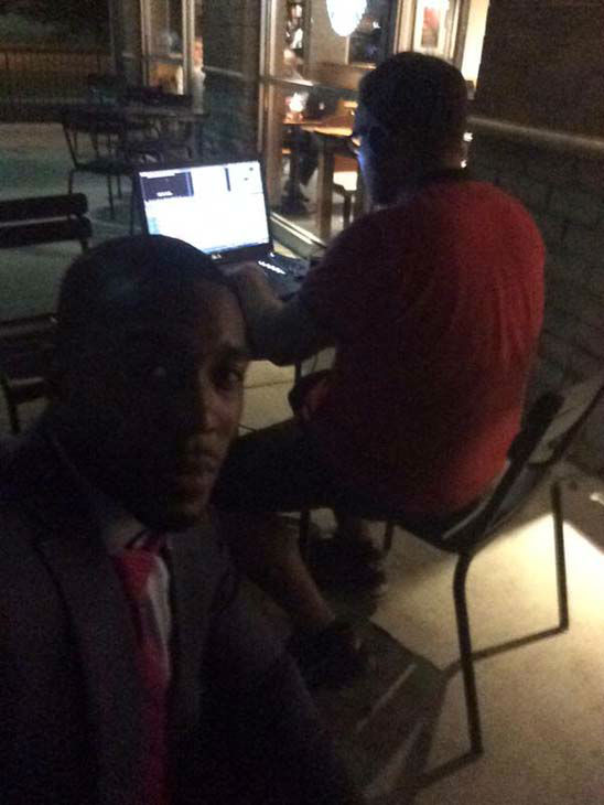 """<div class=""""meta image-caption""""><div class=""""origin-logo origin-image none""""><span>none</span></div><span class=""""caption-text"""">Chauncy and his photographer working on their 10 p.m. story (KTRK Photo)</span></div>"""
