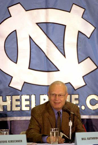 "<div class=""meta image-caption""><div class=""origin-logo origin-image none""><span>none</span></div><span class=""caption-text"">UNC basketball coach Bill Guthridge smiles as he announces his retirement during a news conference Friday, June 30, 2000. (AP Photo/ GRANT HALVERSON)</span></div>"
