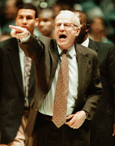 "<div class=""meta image-caption""><div class=""origin-logo origin-image none""><span>none</span></div><span class=""caption-text"">UNC coach Bill Guthridge shouts instructions to his team during a 103-55 win over Florida State Jan. 23, 1998. (AP Photo/Grant Halverson)</span></div>"