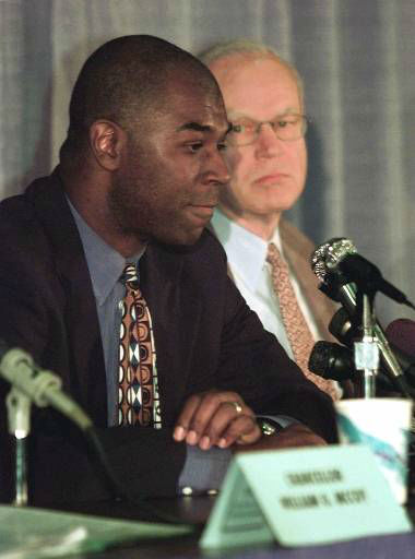 "<div class=""meta image-caption""><div class=""origin-logo origin-image none""><span>none</span></div><span class=""caption-text"">UNC assistant basketball coach Phil Ford, left, and head coach Bill Guthridge listen to questions during a press conference Nov. 8, 1999. (AP Photo)</span></div>"