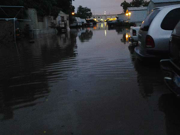 """<div class=""""meta image-caption""""><div class=""""origin-logo origin-image none""""><span>none</span></div><span class=""""caption-text"""">Flooding in a mobile home park in La Porte, TX on May 13, 2015. If you have any photos, email to news@abc13.com or upload using #abc13Eyewitness (iWitness Photo)</span></div>"""