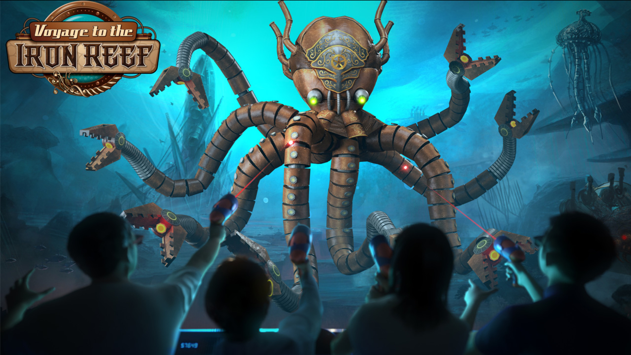 A scene from Knott's Berry Farm's upcoming Voyage to the Iron Reef ride.