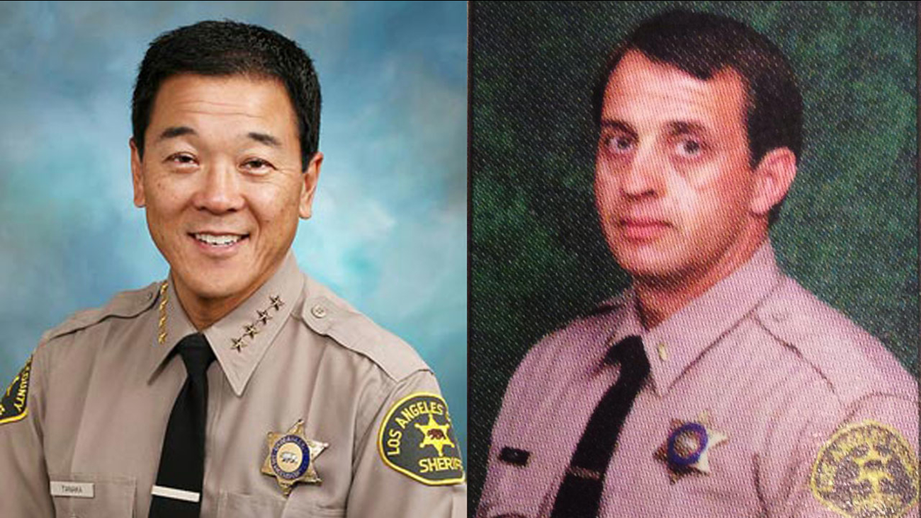 File images of former Los Angeles County Sheriff''s Department Undersheriff Paul Tanaka (L) and former Capt. William 'Tom' Carey.