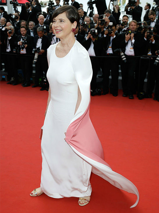 """<div class=""""meta image-caption""""><div class=""""origin-logo origin-image none""""><span>none</span></div><span class=""""caption-text"""">Isabella Rossellini arrives for the opening ceremony and screening of La Tete en Haut (Standing Tall) at the Cannes 68th international film festival in France May 13, 2015. (Photo/AP)</span></div>"""