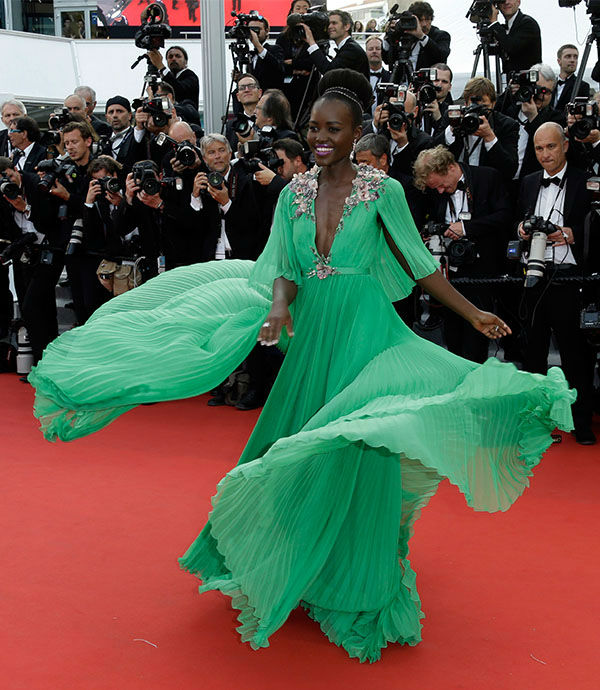 "<div class=""meta image-caption""><div class=""origin-logo origin-image none""><span>none</span></div><span class=""caption-text"">Lupita Nyong'o arrives for the opening ceremony and screening of the film La Tete en Haut (Standing Tall) at the Cannes 68th international film festival in France May 13, 2015. (Photo/AP)</span></div>"