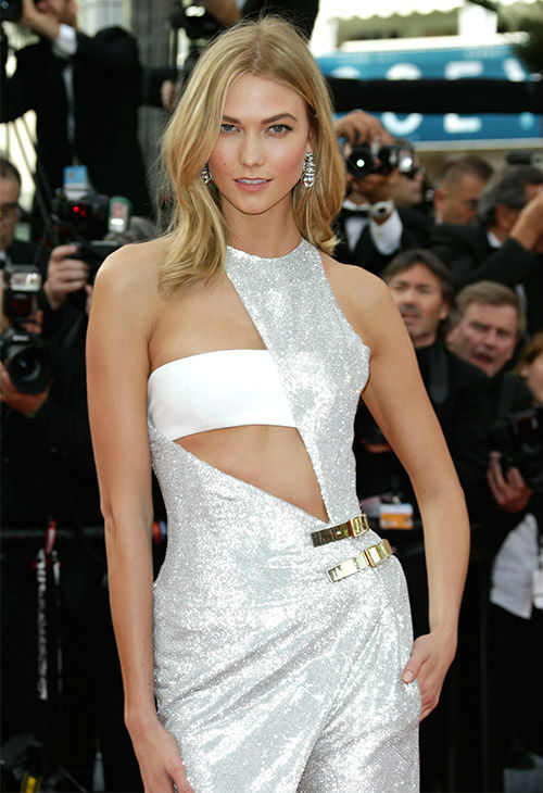 """<div class=""""meta image-caption""""><div class=""""origin-logo origin-image none""""><span>none</span></div><span class=""""caption-text"""">Karlie Kloss arrives for the opening ceremony and screening of the film La Tete en Haut (Standing Tall) at the Cannes 68th international film festival in France May 13, 2015. (Photo/AP)</span></div>"""