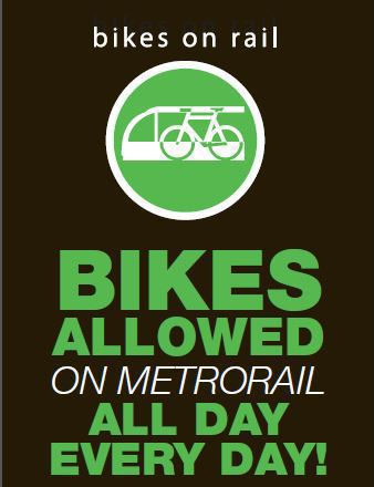 Houston METRO welcomes bicycles on METRORail all day, every day