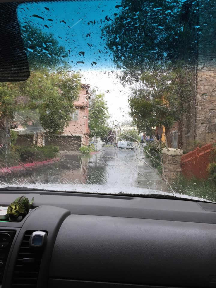 """<div class=""""meta image-caption""""><div class=""""origin-logo origin-image none""""><span>none</span></div><span class=""""caption-text"""">The rain poured down in Sunnyvale, Calif. on May 14, 2015. (Photo submitted by Luiz R./Facebook)</span></div>"""