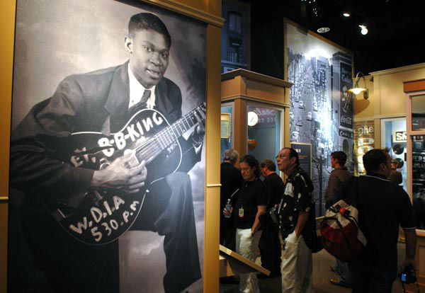 """<div class=""""meta image-caption""""><div class=""""origin-logo origin-image none""""><span>none</span></div><span class=""""caption-text"""">Media and visitors tour the B.B. King Museum and Delta Interpretive Center during a media day Thursday, Sept. 11, 2008 in Indianola, Miss. (AP Photo/ MATTHEW S. GUNBY)</span></div>"""