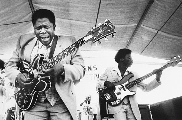 """<div class=""""meta image-caption""""><div class=""""origin-logo origin-image none""""><span>none</span></div><span class=""""caption-text"""">FILE - In this April 21, 1980 file photo, B.B. King, left, and an accompanist perform during the opening of the 1980 New Orleans Jazz and Heritage Festival. (AP Photo/ XJM DK**NY** **NY**PH **NY** CD*)</span></div>"""
