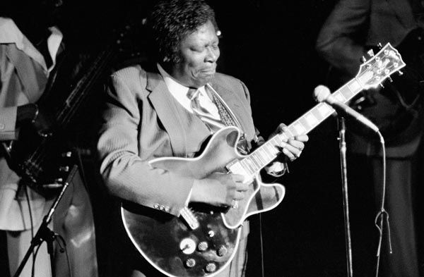 """<div class=""""meta image-caption""""><div class=""""origin-logo origin-image none""""><span>none</span></div><span class=""""caption-text"""">B.B. King live in concert at The Kool Jazz Festival in New York, NY on July 2, 1983. (AP Photo/ Carlos Rene Perez)</span></div>"""
