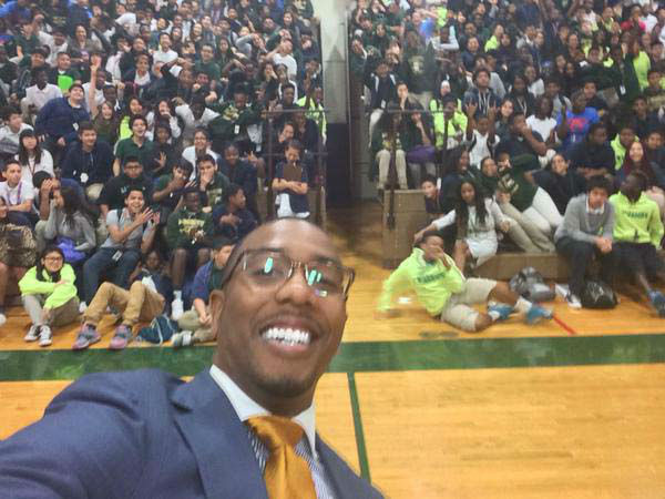 """<div class=""""meta image-caption""""><div class=""""origin-logo origin-image none""""><span>none</span></div><span class=""""caption-text"""">Chauncy Glover speaking to students at Albright Middle School (KTRK Photo)</span></div>"""
