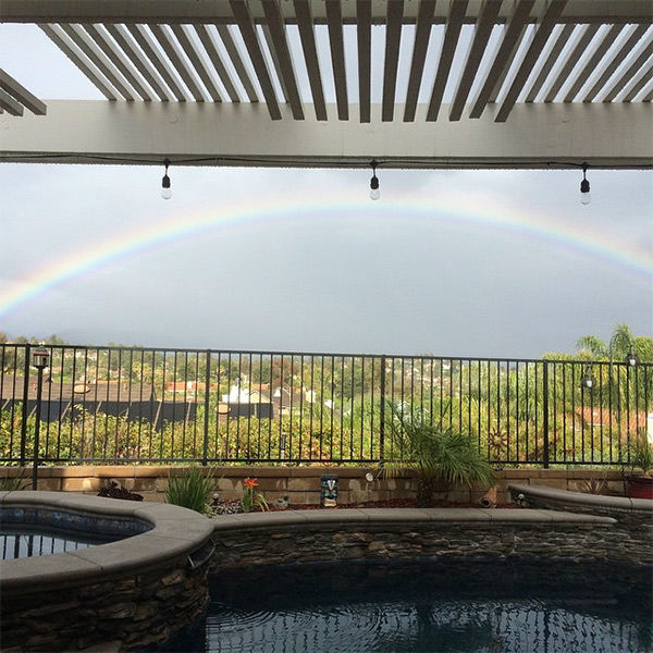 """<div class=""""meta image-caption""""><div class=""""origin-logo origin-image none""""><span>none</span></div><span class=""""caption-text"""">ABC7 viewer Heidi LaBrie shared this photo on Instagram of a rainbow in Mission Viejo. (KABC Photo/Heidi LaBrie)</span></div>"""