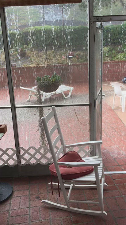 """<div class=""""meta image-caption""""><div class=""""origin-logo origin-image none""""><span>none</span></div><span class=""""caption-text"""">ABC7 viewer Danielle Strickland shared this photo on twitter of rain coming down in her backyard. (KABC Photo/ Danielle Strickland)</span></div>"""
