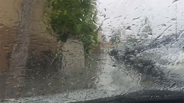 """<div class=""""meta image-caption""""><div class=""""origin-logo origin-image none""""><span>none</span></div><span class=""""caption-text"""">ABC7 viewer Heather Harbin shared this photo on Twitter of the storm in Santa Clarita. (KABC Photo/Heather Harbin)</span></div>"""