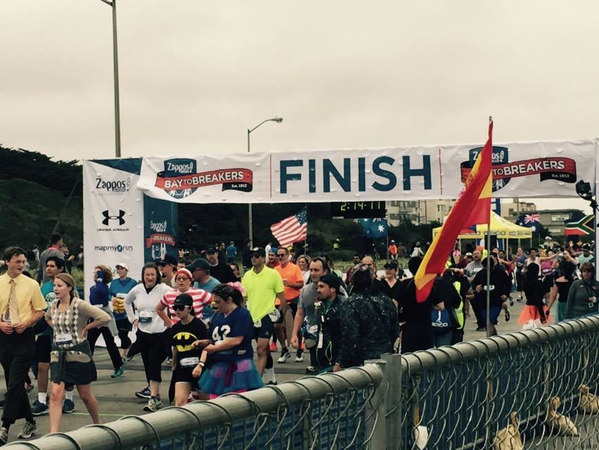"<div class=""meta image-caption""><div class=""origin-logo origin-image none""><span>none</span></div><span class=""caption-text"">Two hours into San Francisco's annual Bay to Breakers Race on May 17, 2015 and runners were still streaming across the finish line. (KGO-TV/Cornell Barnard)</span></div>"