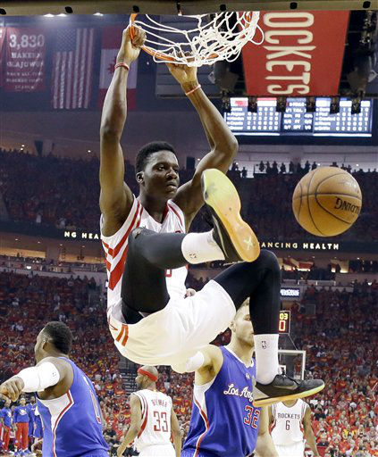 "<div class=""meta image-caption""><div class=""origin-logo origin-image none""><span>none</span></div><span class=""caption-text"">Houston Rockets center Clint Capela (15) dunks against the Los Angeles Clippers during the first half (AP Photo/ David J. Phillip)</span></div>"