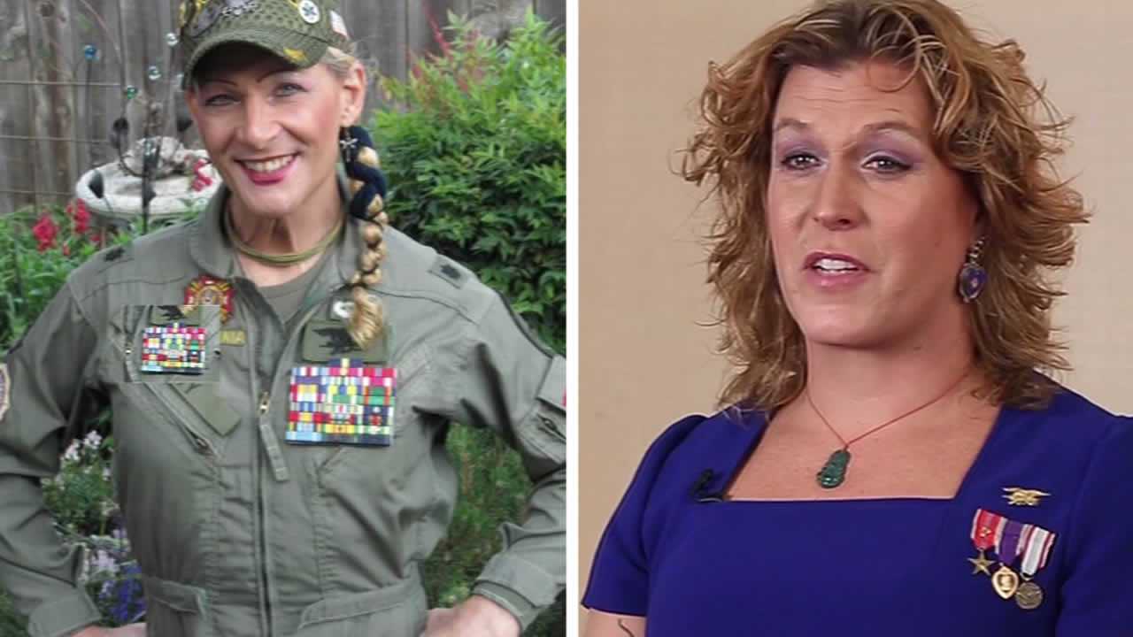 From left to right: Robin Summers Mitchell and real Navy SEAL Kristin Beck.