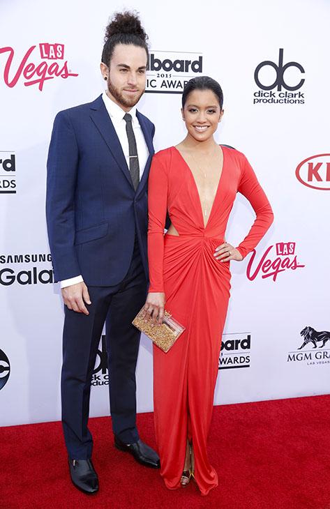 "<div class=""meta image-caption""><div class=""origin-logo origin-image ap""><span>AP</span></div><span class=""caption-text"">Michael Alvarado, left, and Carissa Alvarado arrive at the Billboard Music Awards at the MGM Grand Garden Arena on Sunday, May 17, 2015, in Las Vegas. (AP)</span></div>"