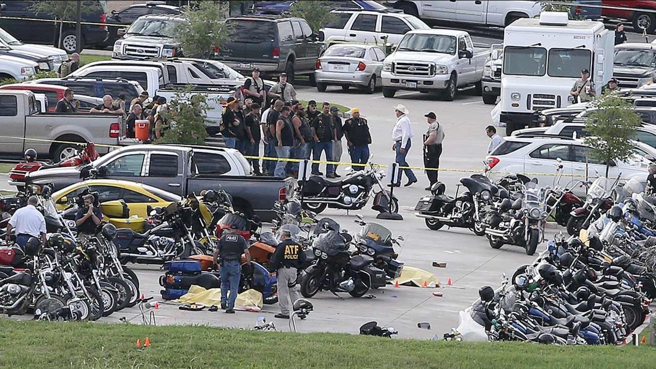 Biker gang shootout scene