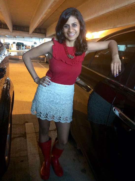 "<div class=""meta image-caption""><div class=""origin-logo origin-image none""><span>none</span></div><span class=""caption-text"">Pooja Lodhia in her Rockets red (KTRK Photo)</span></div>"